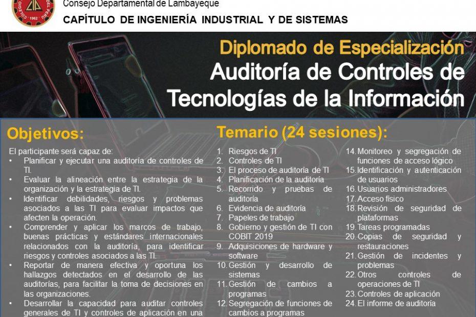diplomado en auditoría de controles de TI - Temario